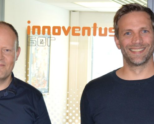 Geir Olav Gyland(WPSystems) og Vegar Kristensen (Innoventus Sør)